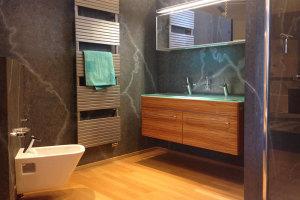Moderner Badezimmerumbau, Badezimmergestaltung, neue Badewanne: Badalli 5 aus Illerrieden. Sanitärbetrieb Illertissen, Neu-Ulm, Ulm